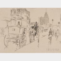 Frederick Childe Hassam (American, 1859-1935)      Union Square