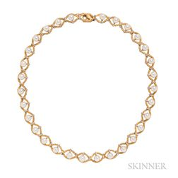 18kt Bicolor Gold and Cultured Pearl Necklace, Buccellati