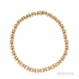 "18kt Gold and Diamond ""Signature"" Necklace, Tiffany & Co."