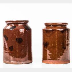 Two Glazed Redware Jars