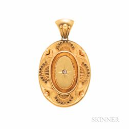 Victorian Gold and Diamond Pendant
