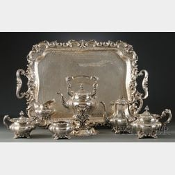 Seven Piece Frank W. Smith Silver Co., Inc. Sterling Tea and Coffee Service