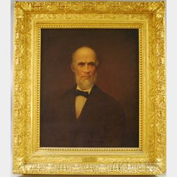American School, 19th Century      Portrait of Warren Whitney Dutcher, Sr. (1812-1880) of Hopedale, Massachusetts.