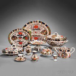 Assembled Royal Crown Derby Imari Palette Porcelain Dinner and Dessert   Service