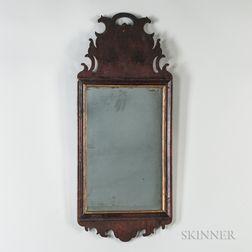 Walnut Veneer Rococo Mirror