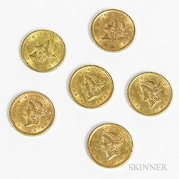 Six Gold Dollars
