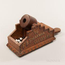 Oak Cannon-form Ballot Box