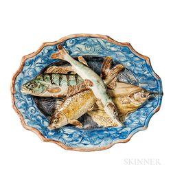 Joseph Landais Palissy Ware Fish Platter