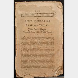 (Colonial America, Free Press), Zenger, John Peter (1697-1746)
