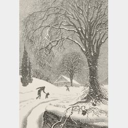 Ellison Hoover (American, 1888-1955)      Returning Home - Winter