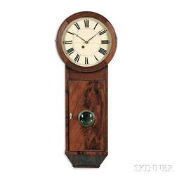 S.B. Terry Mahogany Wall Clock