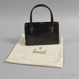 Gucci Black Snakeskin Handbag
