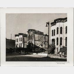 Walker Evans (American, 1903-1975)  Houses, Chicago, Made for the Fortune Magazine Article Chicago: A Camera Exploration (Published F