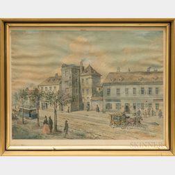Ferdinand Weckbrodt (German, 1838-1902)      Vienna Street Scene