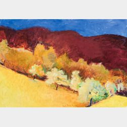 Wolf Kahn (German/American, 1927-2020)      Drawn Downhill