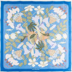 "Framed Hermes ""Flora Graeca"" Silk Scarf"