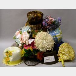 Collection of Twenty-one Mid/Late 20th Century Women's Hats
