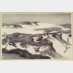 Stow Wengenroth (American, 1906-1978)    Ogunquit Dunes
