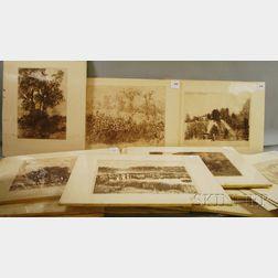 Herbert Lewis Fink (American, 1921-2006)      Eighteen Prints, including Landscapes and Figures