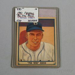 1941 Play Ball #54 Pee Wee Reese Rookie Card.     Estimate $200-400