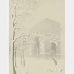 Ellison Hoover (American, 1888-1955)      Arc de Triomphe