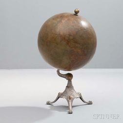 J.L. Hammett Terrestrial Globe on Iron Stand