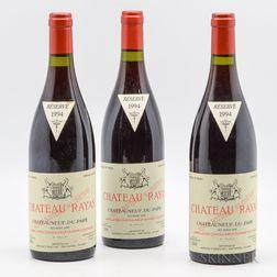 Rayas Chateauneuf du Pape Reserve 1994, 3 bottles
