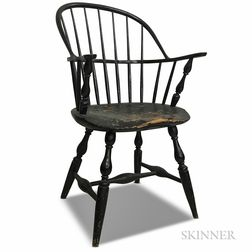 Black-painted Sack-back Windsor Chair