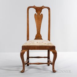 Queen Anne Walnut Side Chair