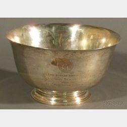 Large Sterling Presentation Punch Bowl