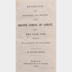 Miller, William (1782-1849)   Evidence from Scripture and History of the Second Coming of Christ, about the Year 1843