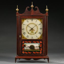 Federal Pillar and Scroll Mantel Clock