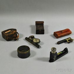 Cased Pocket Sextant and Three Other Surveying Instruments
