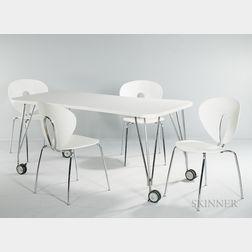 Ferruccio Laviani Max Table and Four Jesus Gasca Globus Chairs