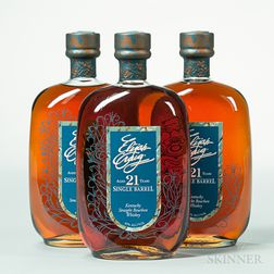 Elijah Craig Single Barrel 21 Years Old 1990, 3 750ml bottles