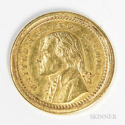 1903 Louisiana Purchase Commemorative Gold Dollar with Jefferson Bust