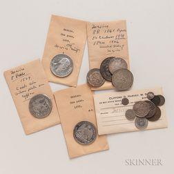 Sixteen Mexican Coins