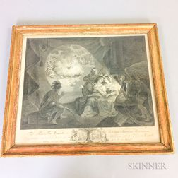 Framed Carl Guttenberg Engraving The Tea-Tax-Tempest