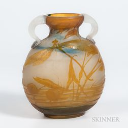 Galle Two-handled Dragonfly Vase