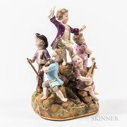 Meissen Porcelain Musician Group