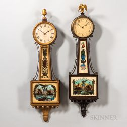 "Two American ""Banjo"" Clocks"