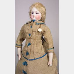 Early French Fashion Doll with Kid-over-Wood Body