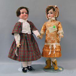Two Armand Marseille 390 Bisque Head Dolls