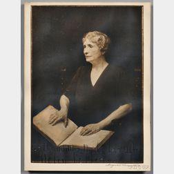 Keller, Helen (1880-1968) Signed Photo of the Augustus Vincent Tack (1870-1949) Oil Portrait.