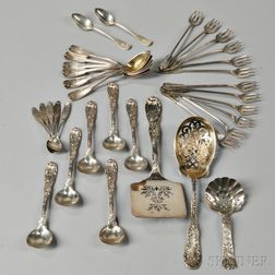 Thirty-three Pieces of Assorted Tiffany & Co. Sterling Silver Flatware