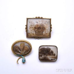 Three Hair Brooches