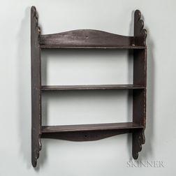 Shaped Three-tier Wall Shelf