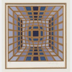 Victor Vasarely (Hungarian/French, 1906-1997)      Untitled