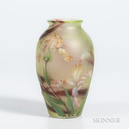 Burgun & Schverer Cameo Art Glass Vase