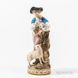 Meissen Porcelain Figure of a Shepherd